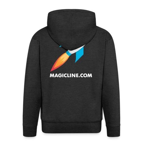 Rocket Magicline com Typo weiss DIN A3 - Männer Premium Kapuzenjacke