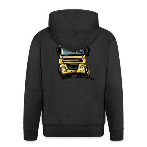 0810 D truck CF geel - Mannenjack Premium met capuchon