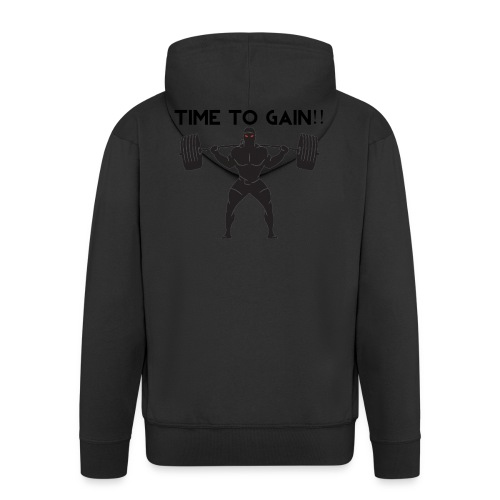 TIME TO GAIN! by @onlybodygains - Men's Premium Hooded Jacket