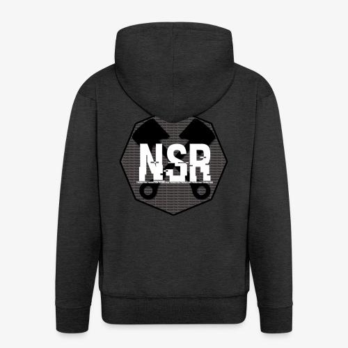 NSR B/W - Miesten premium vetoketjullinen huppari