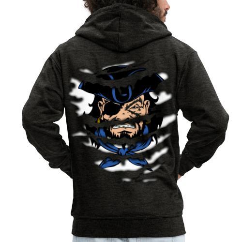 Pirates inside - Felpa con zip Premium da uomo