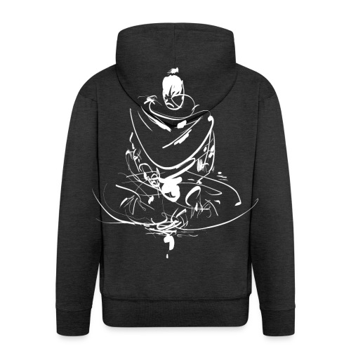 Iaido Samurai Zen Meditation - Men's Premium Hooded Jacket