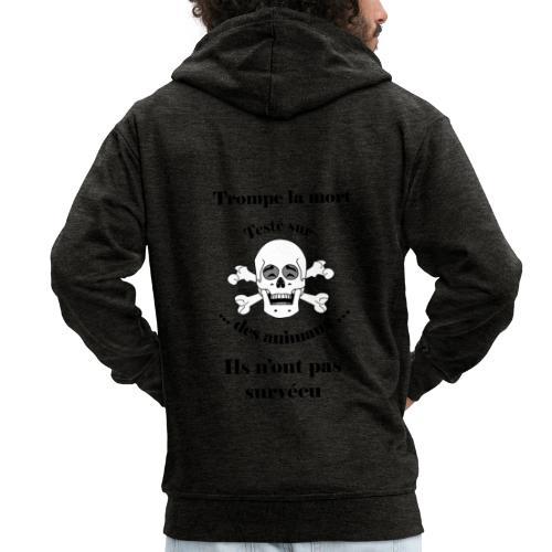 Trompe la mort «rieur» Test animal FC - Veste à capuche Premium Homme