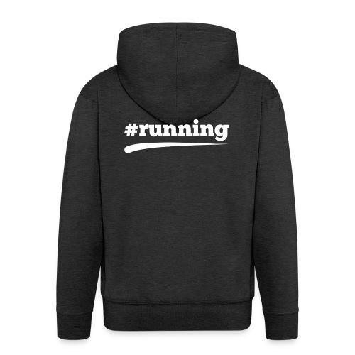 #RUNNING - Männer Premium Kapuzenjacke