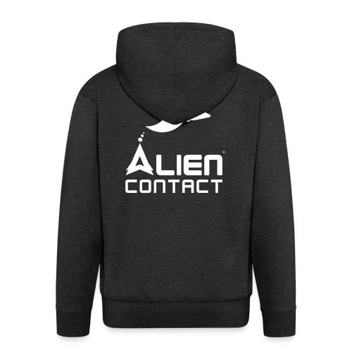 Alien Contact - Felpa con zip Premium da uomo