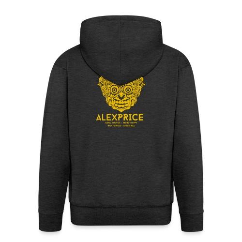 Alex Price - Felpa con zip Premium da uomo