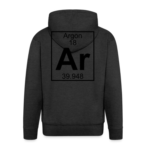 Argon (Ar) (element 18) - Men's Premium Hooded Jacket