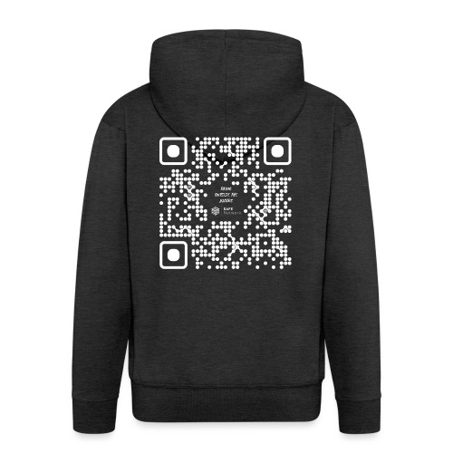 QR The New Internet Should not Be Blockchain Based W - Men's Premium Hooded Jacket
