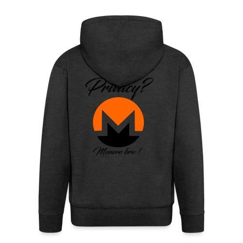 Moneroooo - Veste à capuche Premium Homme