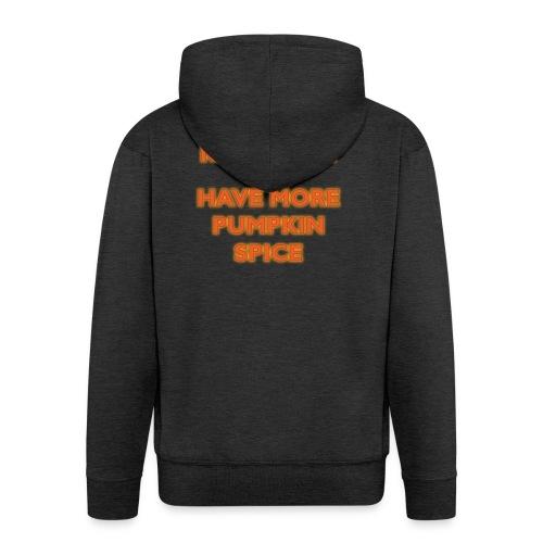 KeepCalmPumpkinSpice - Felpa con zip Premium da uomo