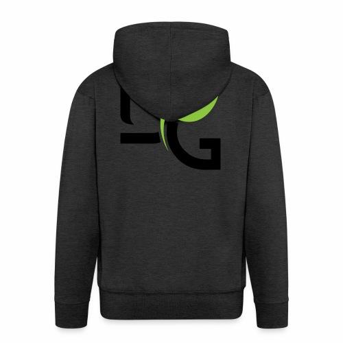 DrGreen Logo Symbol schwarz grün - Männer Premium Kapuzenjacke