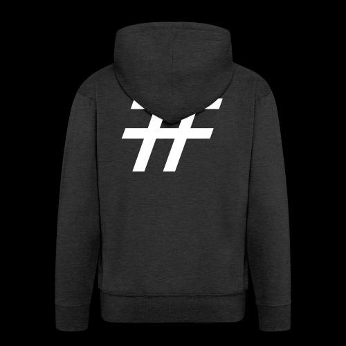 Hashtag Team - Männer Premium Kapuzenjacke