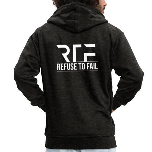 Refuse To Fail - Men's Premium Hooded Jacket