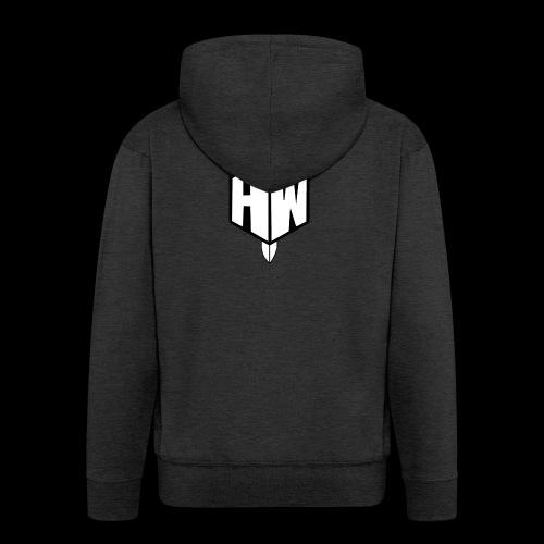 Black and White Logo - Men's Premium Hooded Jacket