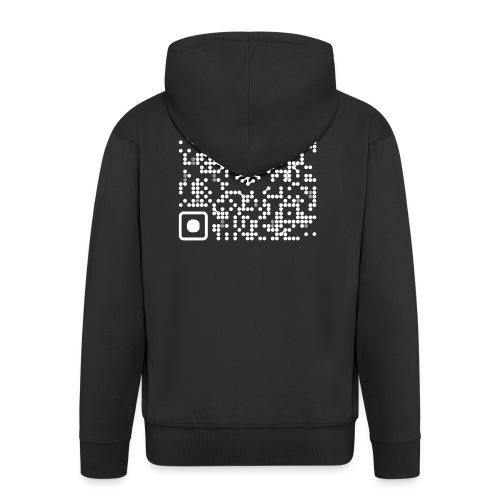 QR Safenetforum White - Men's Premium Hooded Jacket