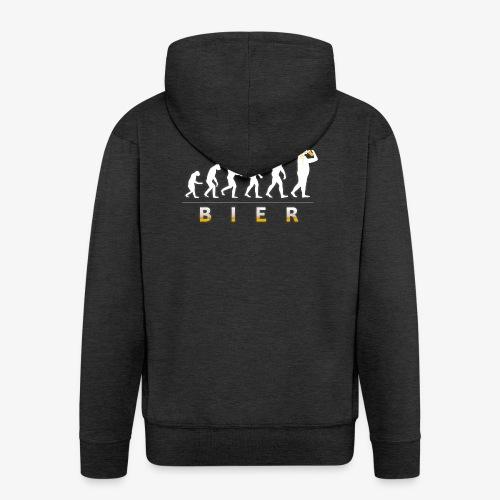 Bier Evolution. Männer Bier Shirt Geschenk Idee - Männer Premium Kapuzenjacke