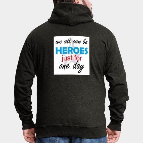 GHB Jeder kann ein Held sein 190320183w - Männer Premium Kapuzenjacke