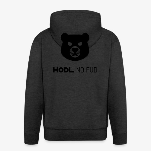 HODL-bearnofud-b - Men's Premium Hooded Jacket
