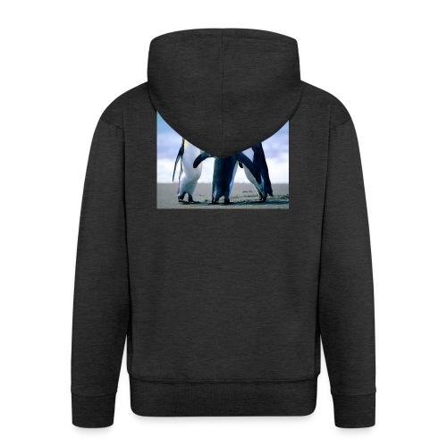 Penguins - Felpa con zip Premium da uomo