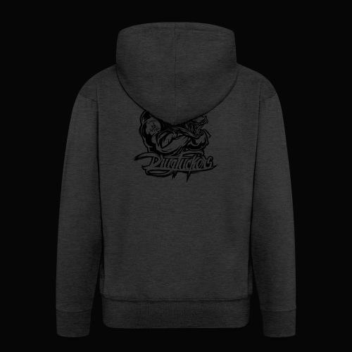 Drug_Fuckers_Logo _-_ Composition_01-_black - Men's Premium Hooded Jacket