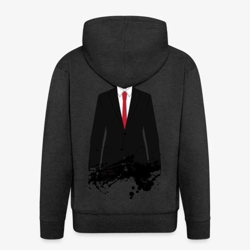 The Hitman - Black Stain - Men's Premium Hooded Jacket