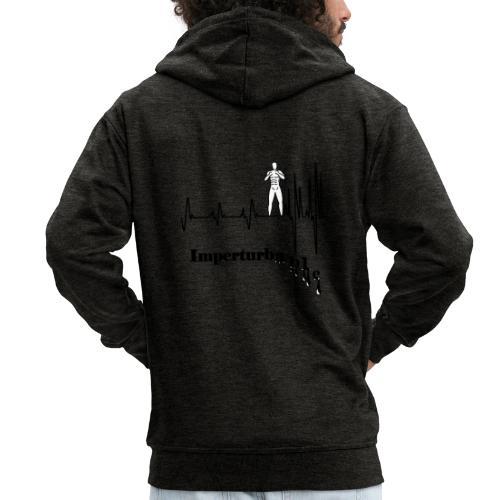 Imperturbable devant lui … - Veste à capuche Premium Homme
