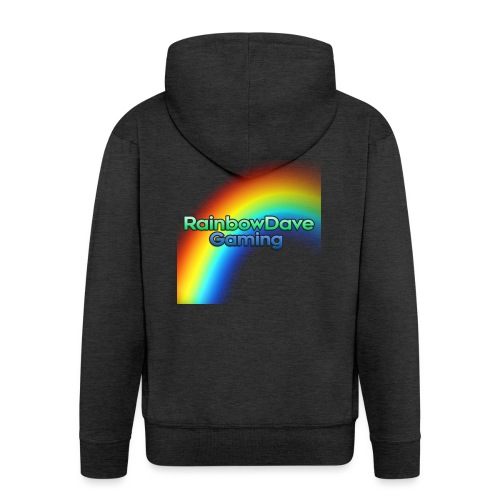 RainbowDave Gaming Logo - Men's Premium Hooded Jacket