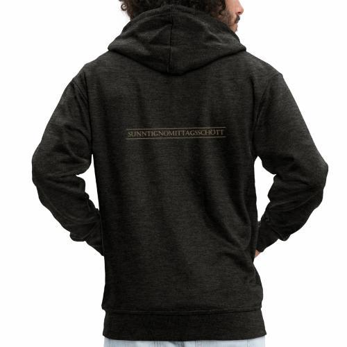 Sunntignomittagsschött Schriftzug - Männer Premium Kapuzenjacke