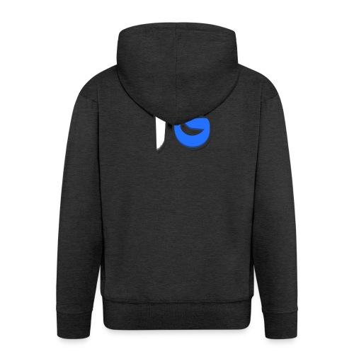 Offical Second Coloured Design No Background - Men's Premium Hooded Jacket