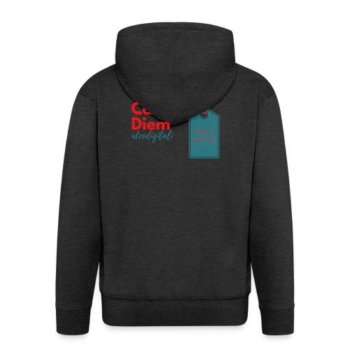 carpe diem - Felpa con zip Premium da uomo