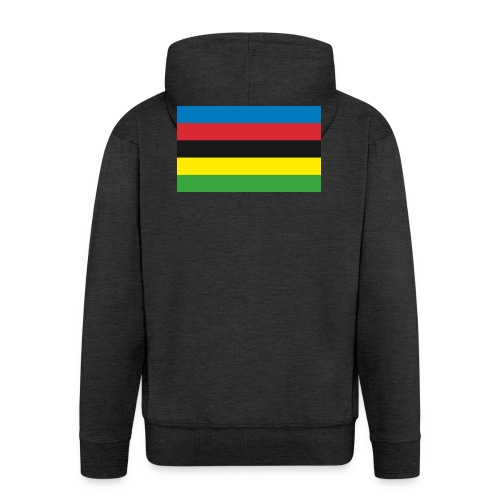Cycling_World_Champion_Rainbow_Stripes-png - Mannenjack Premium met capuchon