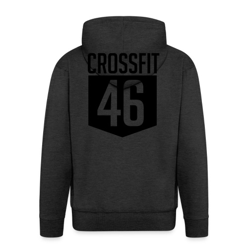 CROSSFIT46 big logo - Premium Hettejakke for menn
