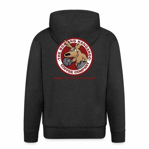 Boxing Kangaroo Coffee Company - Men's Premium Hooded Jacket