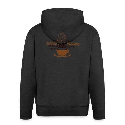 Coffee A Day - Men's Premium Hooded Jacket