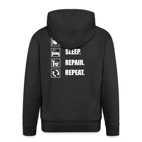 Das Leben als Mechaniker ist hart! Witziges Design - Männer Premium Kapuzenjacke