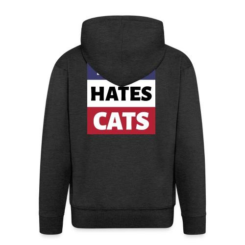 Dog Hates Cats - Männer Premium Kapuzenjacke