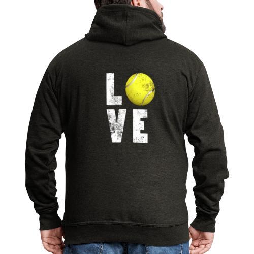 LoveTennis Shirt Ideal Gift For Tennis Players - Chaqueta con capucha premium hombre