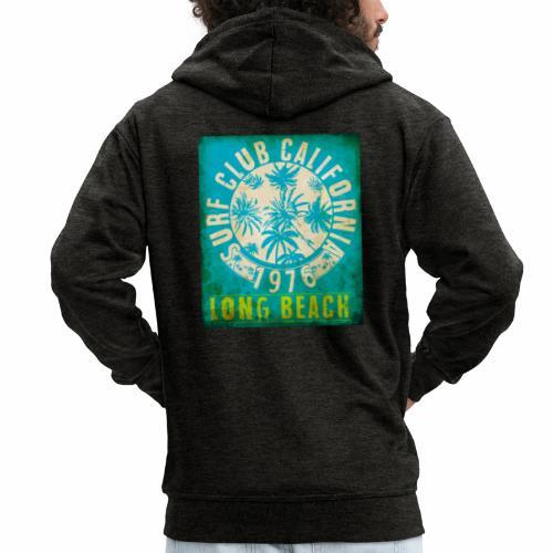 Long Beach Surf Club California 1976 Gift Idea - Men's Premium Hooded Jacket