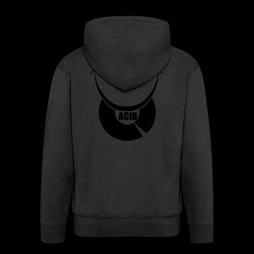 smiley acid techno vinyl - Men's Premium Hooded Jacket