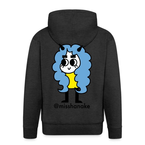 hana-chan ✻ blue yellow black - Men's Premium Hooded Jacket