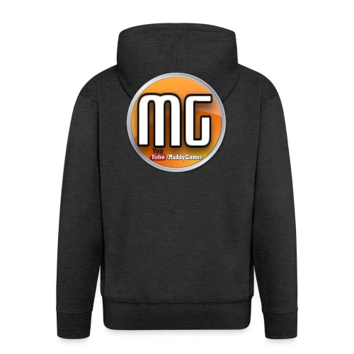 muddy gamer branding - Men's Premium Hooded Jacket