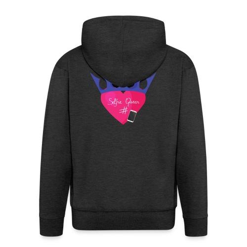 Humor Crown for real social media queens. - Men's Premium Hooded Jacket