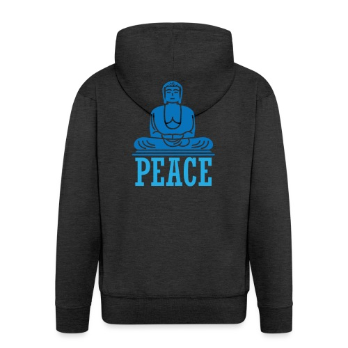 Buddha Meditating. - Men's Premium Hooded Jacket