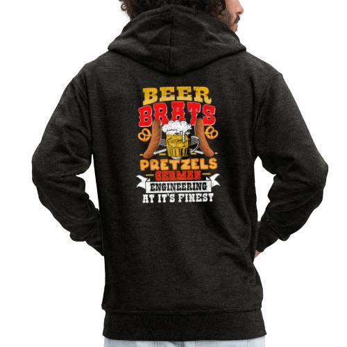 Bier, Bratwurst, deutsches... - Männer Premium Kapuzenjacke