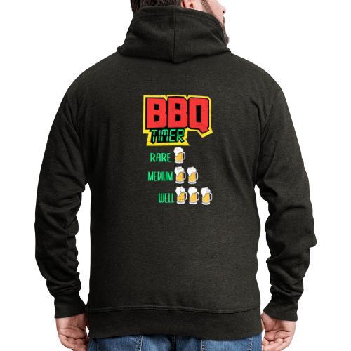 BBQ Timer BIER - Männer Premium Kapuzenjacke
