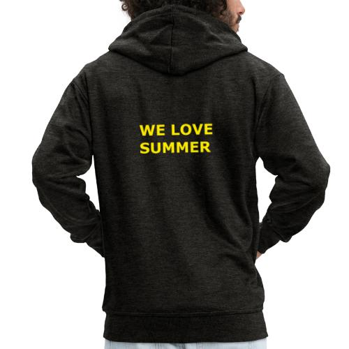we love summer - Männer Premium Kapuzenjacke