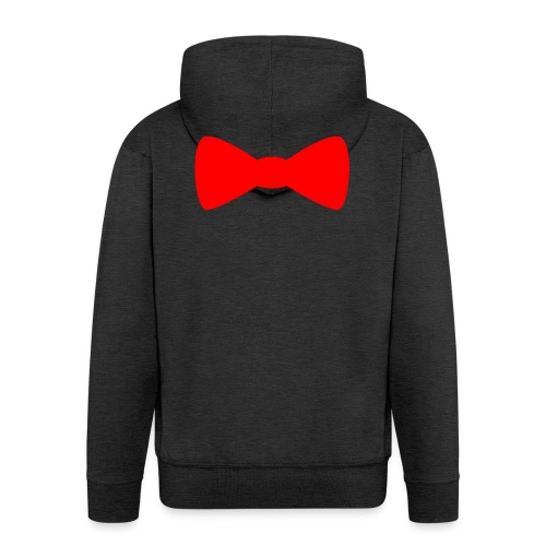 Red Bowtie - Men's Premium Hooded Jacket