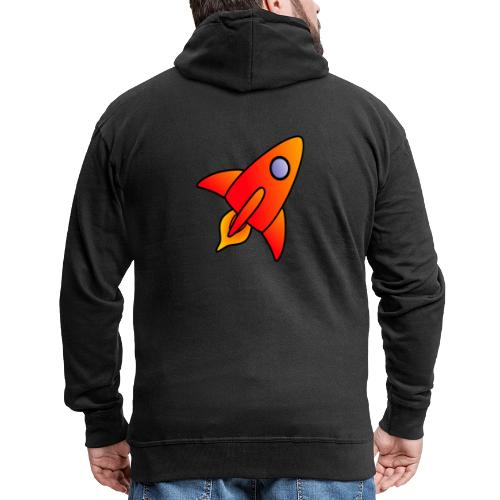 Red Rocket - Men's Premium Hooded Jacket
