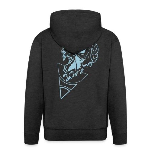 crownded skull - Men's Premium Hooded Jacket