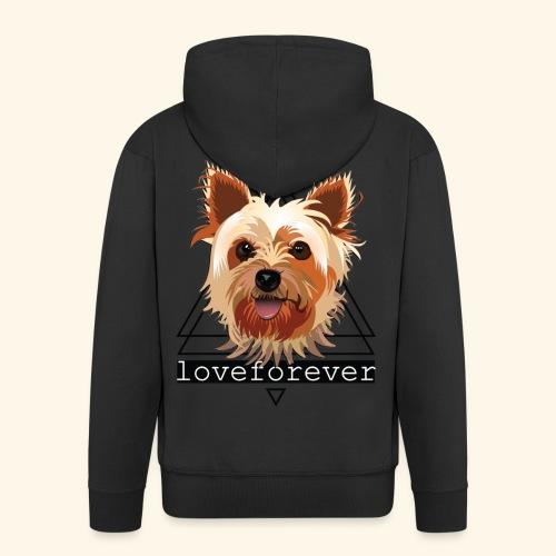 YORKIE LOVE FOREVER - Chaqueta con capucha premium hombre